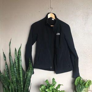 North Face black zip up jacket (Small)